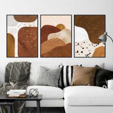 zestaw plakatów brownie sunset
