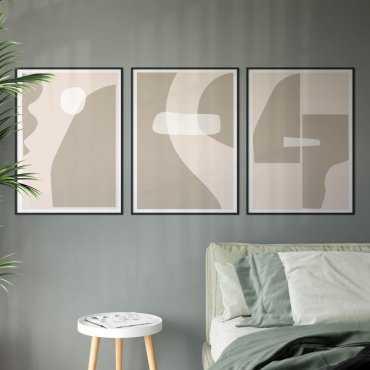 zestaw plakatów cappucino pastel