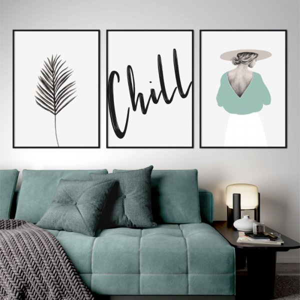 zestaw plakatów chill art