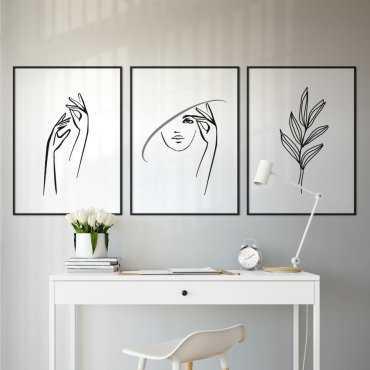 zestaw plakatów feminine art