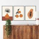 zestaw plakatów fruity design