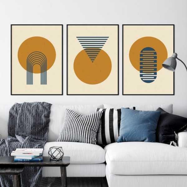 geometric sun plakaty