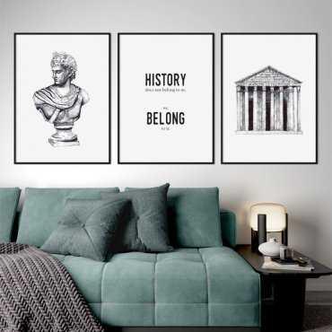 zestaw plakatów history art