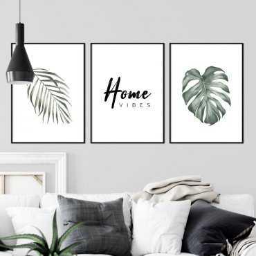 zestaw plakatów home vibes