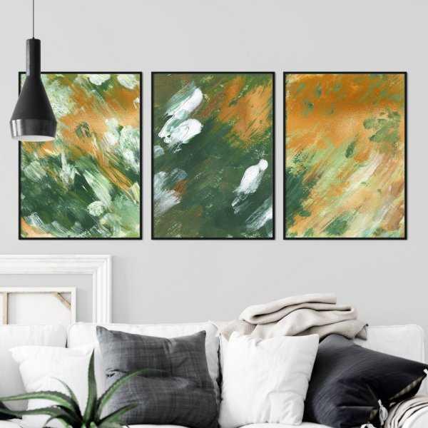 zestaw plakatów honey green