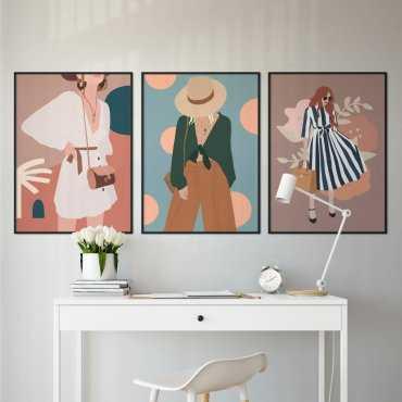 zestaw plakatów lifestyle girl