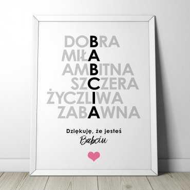 BABCIA - Plakat w ramie