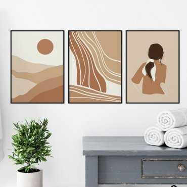 zestaw plakatów lovely spa