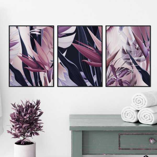 zestaw plakatów violet vibes