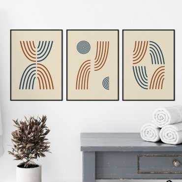 zestaw plakatow shapes of lines