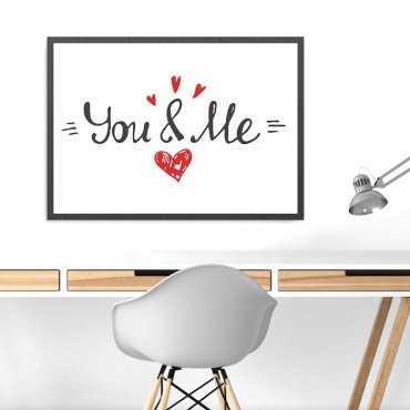 YOU & ME - Plakat w ramie