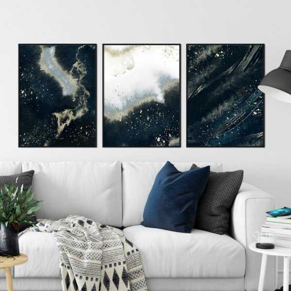 zestaw plakatów space painting