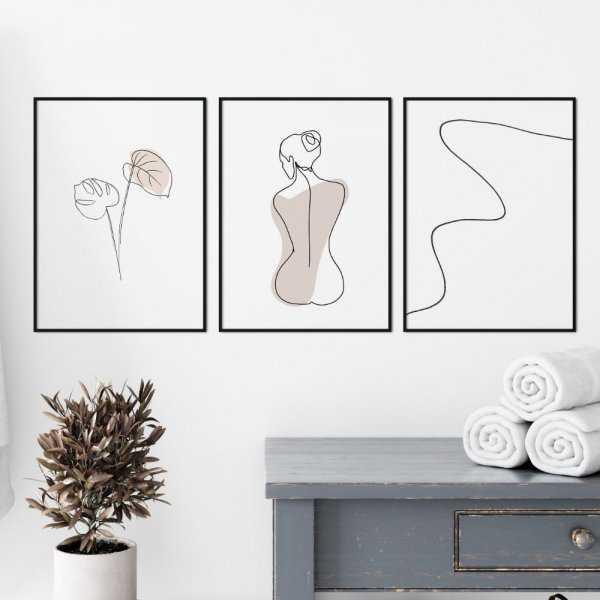 zestaw plakatów sensual beauty