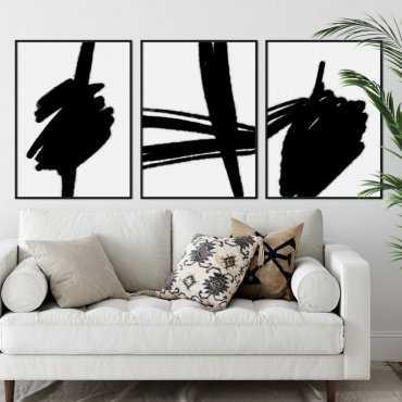 zestaw plakatów shadow brush