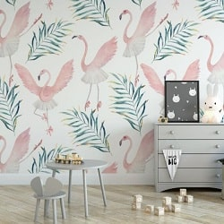 tapeta ballerina flamingo